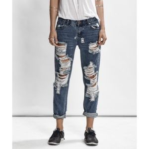 One Teaspoon awesome baggies destroyed jeans 28